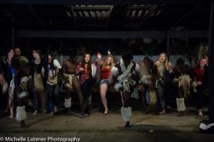 Attempting some Zulu Dancing.